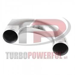 60mm - Curva in Alluminio 180°